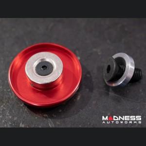 FIAT 500 Gear Shift Knob Cap - Scorpion Design w/ Red Crystals