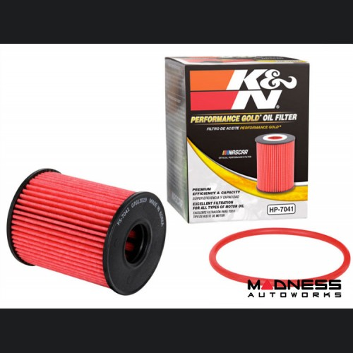 FIAT 124 Oil Filter Cartridge - K&N - Performance Gold