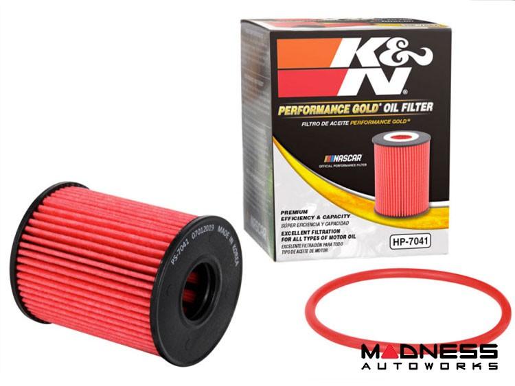 FIAT 500 Oil Filter Cartridge - K&N - North American Version - Performance Gold