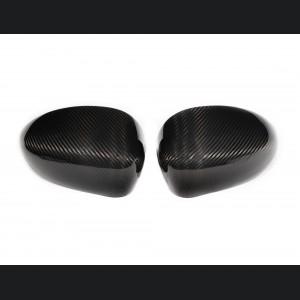 FIAT 500 Mirror Covers - Carbon Fiber - Caps
