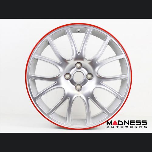 "FIAT 500 ABARTH 50th Anniversary Titanium Wheels w/ Red Edge - 17"""