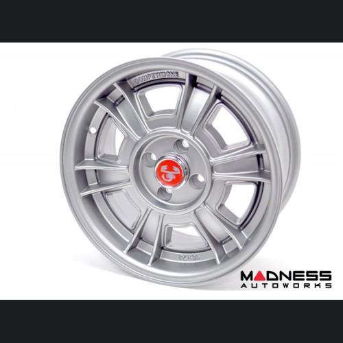 """FIAT 500 Custom Wheels - Competizione - Sportiva Design - 15"""" - Matte Gray"""