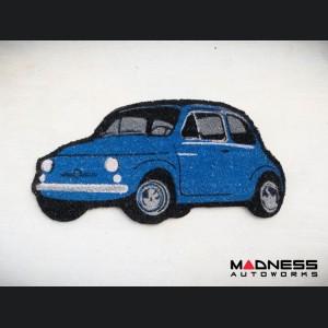 Classic Fiat 500 Doormat - Blue