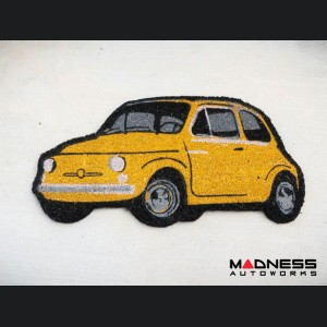 Classic Fiat 500 Doormat - Yellow