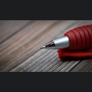 Ball Point Collapsible Mini Pen - ABARTH Logo w/ Lanyard