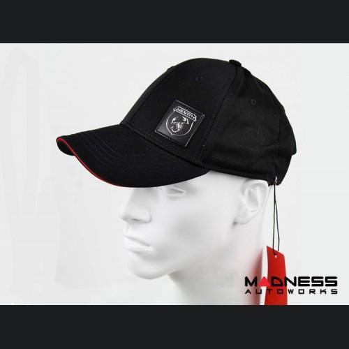 Cap - ABARTH - Black w/ Rubber ABARTH Logo