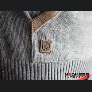 ABARTH Pullover Jacket - Gray w/ Brown Accents - ABARTH & Co.