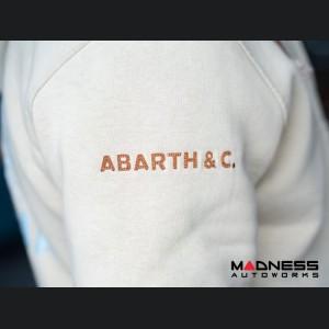 ABARTH Pullover Jacket w/ Hood - Latte w/ Brown & Aqua Accents