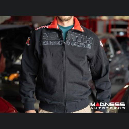ABARTH Zippered Jacket - Black w/ Red - Squadra Corse