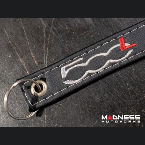 Keychain - Leather Band - FIAT 500L Logo