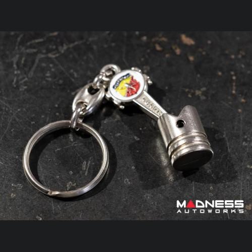 Keychain - Piston w/ ABARTH Logo