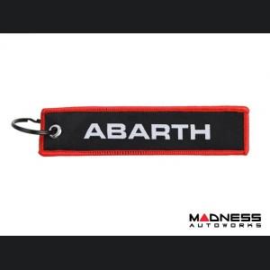 Keychain - ABARTH - Black w/ Red Outline + ABARTH Logos