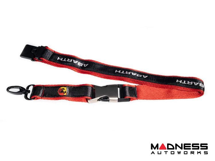 Lanyard - Black & Red w/ ABARTH Logo