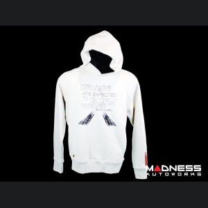 """ABARTH Sweatshirt - """"Drivers Are Expected To Burn Rubber"""" - XL"""