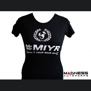 """ABARTH T-Shirt - """"Make It Your Race"""" - Women's - Black - Small"""