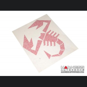 "ABARTH Scorpion Decal - 9.5"" x 8"" - Red"