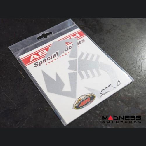 "ABARTH Scorpion Decal - 6"" - Silver"