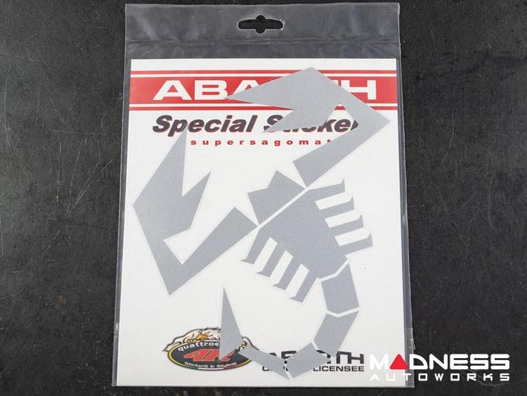 "ABARTH Scorpion Decal - 9"" - Silver"