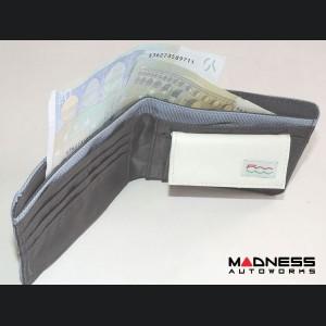 FIAT 500 Men's Wallet - 500 Front Outline -Light Blue