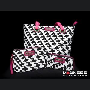 "FIAT 500 Theme Italian Ladies Multi Bag + Wallet Collection - ""80's Retro"" - V1"