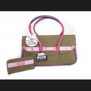 FIAT 500 Italian Ladies Handbag + Wallet Set - Chic Bicolor