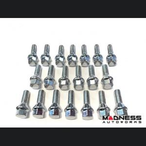 FIAT 500X Lug Bolt Set - Set of 20 - M12x1.25 - 60° Cone Seat - Silver
