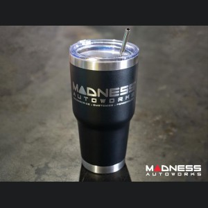 Stainless Steel Double Wall Tumbler - w/ MADNESS Autoworks Logo