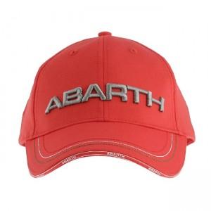 Cap - ABARTH - Red w/ Silver ABARTH Logo