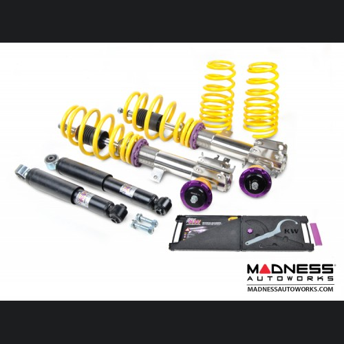FIAT 500 Coilover Kit by KW - Variant 1 Inox-line
