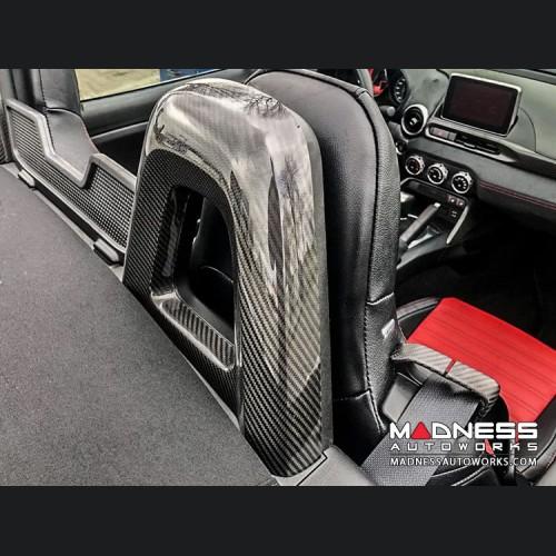 FIAT 124 Rear Roll Bar Covers - Carbon Fiber