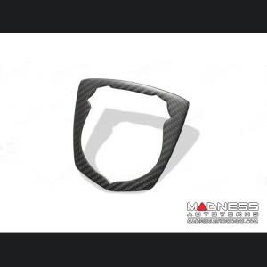 FIAT 500 ABARTH Front Emblem Frame - Carbon Fiber - Matte
