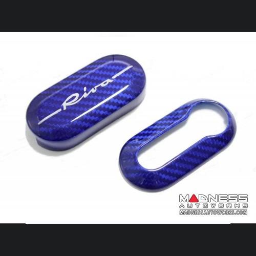 FIAT Key Cover - Carbon Fiber - Rivale Blue