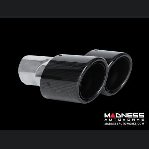 FIAT 124 Performance Exhaust by MADNESS - Lusso - Dual Exit w/ Carbon Fiber Quad Tips