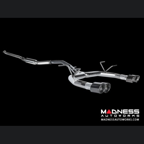 FIAT 124 Performance Exhaust by MADNESS - Lusso - Dual Exit w/ Black Chrome Quad Tips