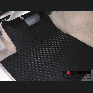 FIAT 500X Floor Mats - All Weather Rubber - Hexomat - Front + Rear Set - Black