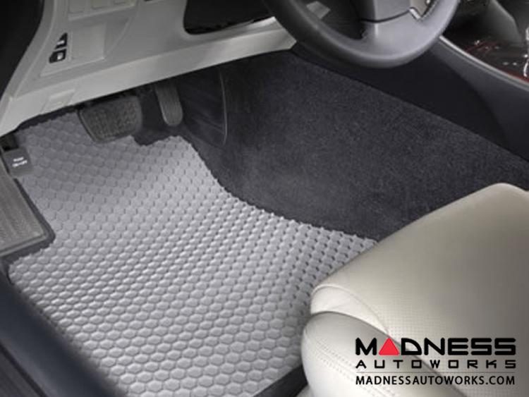 FIAT 500 Floor Mat Set - All Weather Rubber - Hexomat - Front Set - Grey