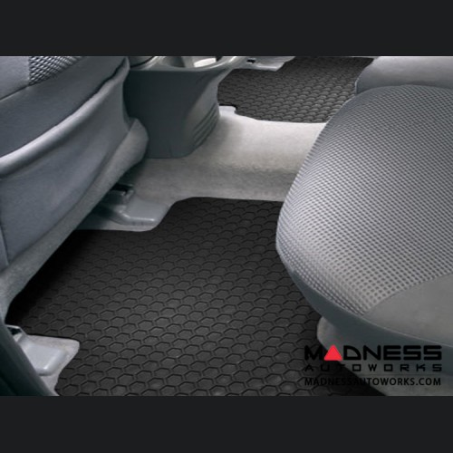 FIAT 500L Floor Mats - All Weather Rubber - Hexomat - Rear Set - Black