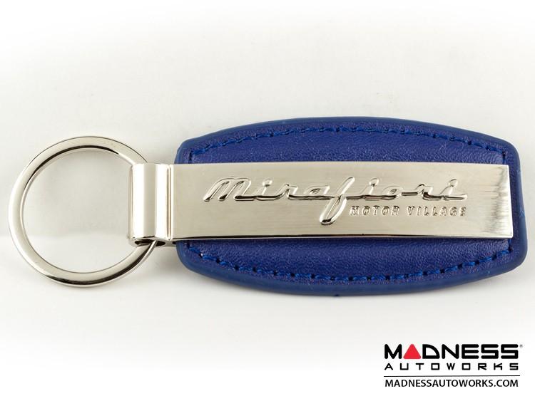 Keychain - Blue Leather Strap w/ Mirafiori Logo