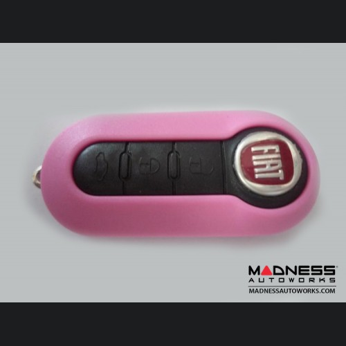 FIAT 500 Key Fob Housing and Uncut Key - Pink Case