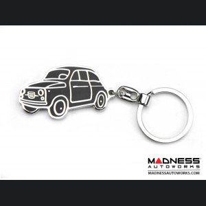 Keychain - Classic Fiat 500 - Black - Museo Edition