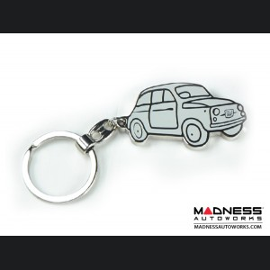 Keychain - Classic Fiat 500 - White - Museo Edition