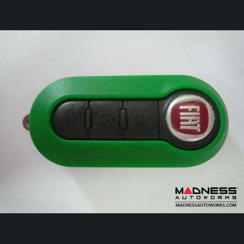 FIAT 500 Key Fob Housing and Uncut Key - Green Case