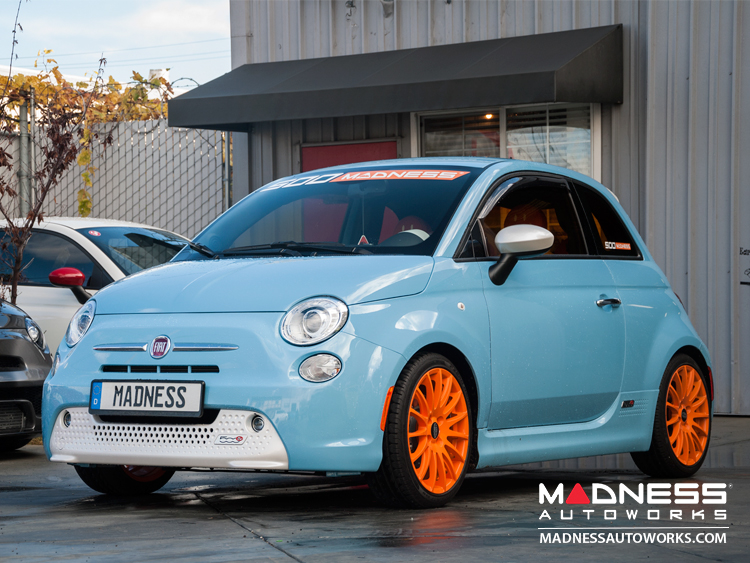 fiat 500e lowering springs by madness fiat 500 parts and accessories. Black Bedroom Furniture Sets. Home Design Ideas