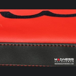 FIAT 500L Parcel Shelf Cover - Leather - Black / Red with 500L Logo
