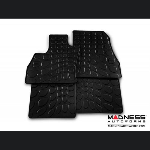 FIAT 500L Floor Mats - All Weather Rubber - Mopar - Front + Rear Set - Black