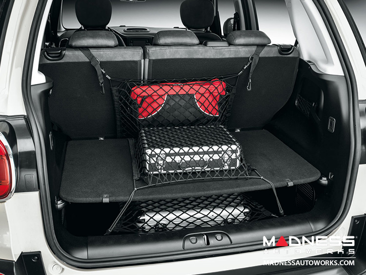 fiat 500l luggage compartment retaining and securing net. Black Bedroom Furniture Sets. Home Design Ideas