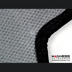 FIAT 500 Floor Mats - Premium Carpet - LUXUS - Rear Set - Black