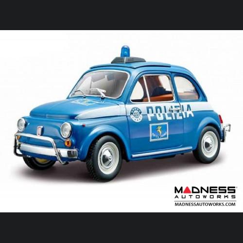 FIAT 500 Diecast Model 1/24 scale - Polizia (Security Team)