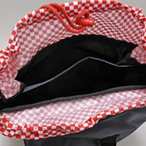 ABARTH Backpack - Black/ Red/ Checkered