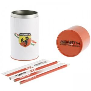 ABARTH Metal Tin Holder w/ Accessories